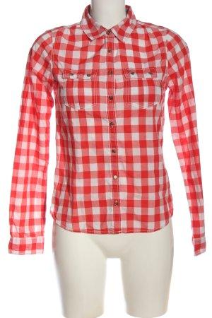 Tommy Hilfiger Camicia da boscaiolo rosso-bianco stampa integrale stile casual