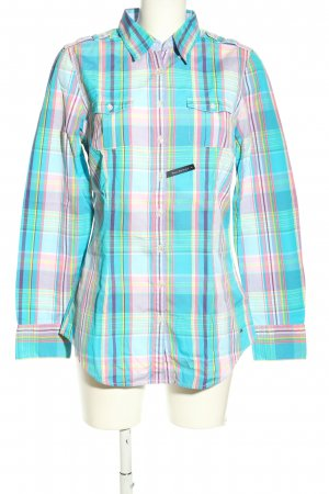 Tommy Hilfiger Holzfällerhemd türkis-pink Allover-Druck Casual-Look