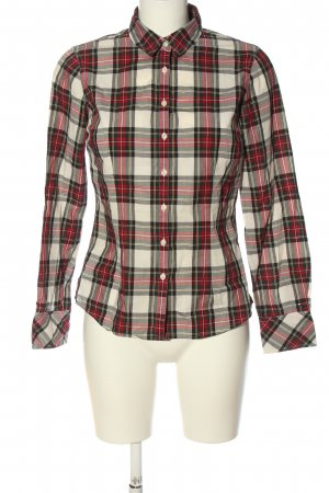 Tommy Hilfiger Holzfällerhemd wollweiß-rot Allover-Druck Casual-Look