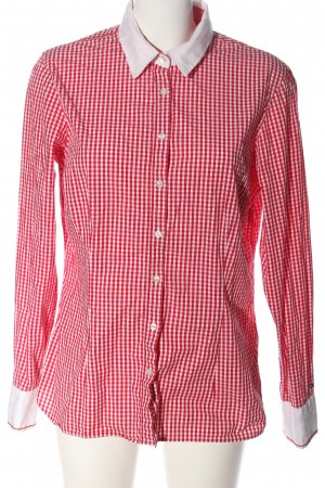 Tommy Hilfiger Houthakkershemd wit-rood geruite print casual uitstraling