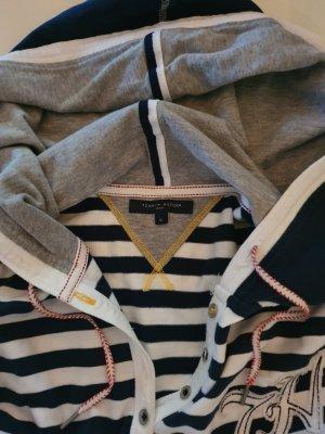 Tommy Hilfiger Shirt met capuchon wit-donkerblauw