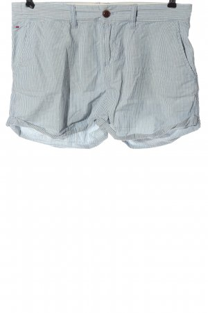 Tommy Hilfiger Hot Pants blau-weiß Allover-Druck Casual-Look