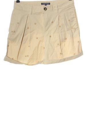Tommy Hilfiger Hot Pants creme Schriftzug gestickt Casual-Look