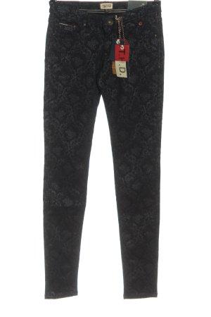 Tommy Hilfiger pantalón de cintura baja negro estampado con diseño abstracto