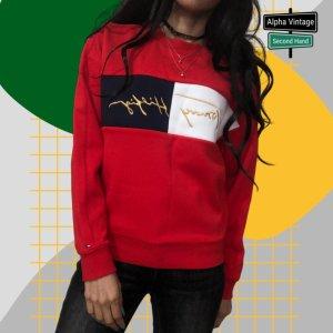 Tommy Hilfiger Icon Sweatshirt Pullover Rot Pulli | Size 12 -152 Cm