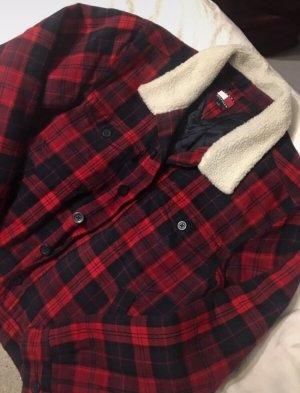 Tommy Hilfiger Giacca in eco pelliccia nero-rosso scuro