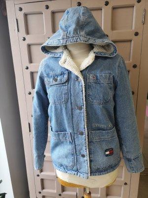 Tommy Jeans Fake Fur Jacket white-azure