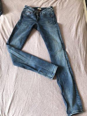 Tommy Hilfiger Denim Jeansy biodrówki niebieski