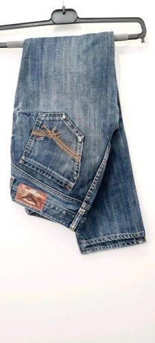 Tommy Hilfiger Denim Jeans vita bassa blu neon Cotone