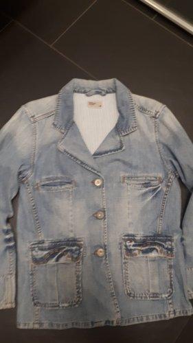 Tommy Hilfiger Denim Blazer en jean bleu azur-orange clair coton