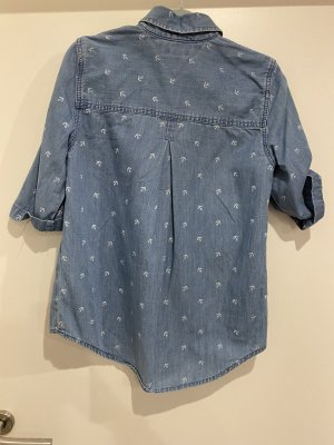 Tommy Hilfiger Bluzka jeansowa błękitny-biały