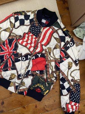 Tommy Hilfiger Jeans Bomberjacke Satin Flagge 90s Capsule vintage