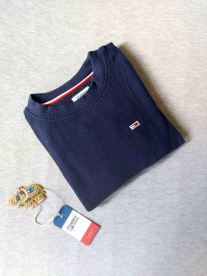 Tommy Hilfiger Jeans Cropped Sweatshirt Pullover Marine Gr. S Top Zustand