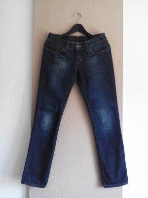 Tommy Hilfiger Denim Jeans cigarette bleu foncé-bleu azur coton
