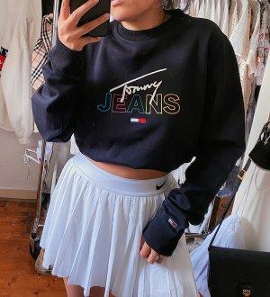 Tommy Hilfiger Jeans schwarzen Pullover / Sweater / Pulli Logo