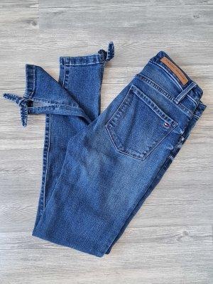 TOMMY HILFIGER Jeans, Slim, Strech, Bindeschleife am Saum