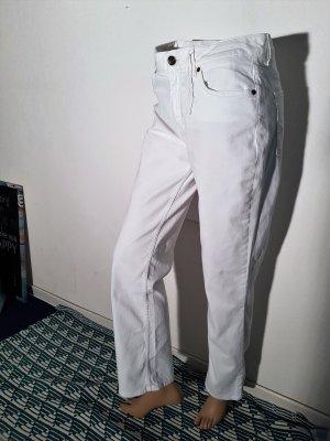 Tommy Hilfiger Vaquero de talle alto blanco Algodón