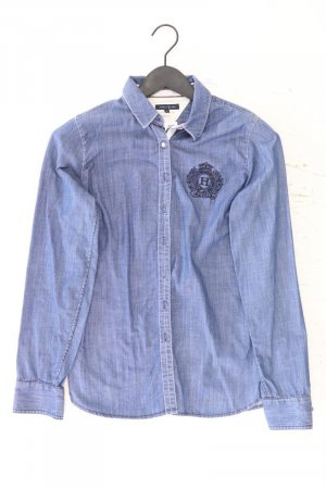 Tommy Hilfiger Jeansbluse Größe UK 8 Langarm blau aus Baumwolle