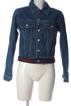 Tommy Hilfiger Spijkerjack blauw straat-mode uitstraling