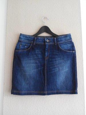 Tommy Hilfiger Jeansrock in marineblau, verwaschener Optik, Modell Paris classic fit, Größe 38