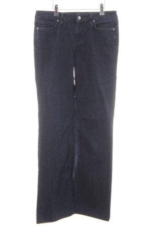 Tommy Hilfiger Jeans flare bleu foncé-bleu acier Fixation de logo (en cuir)