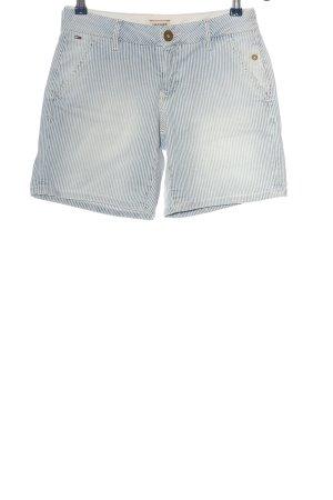 Tommy Hilfiger Jeansshorts blau-weiß Streifenmuster Casual-Look