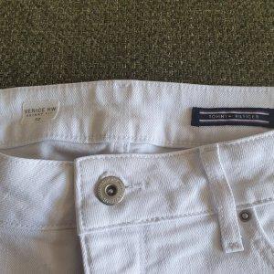 Tommy Hilfiger Denim Pantalón corto de tela vaquera blanco Algodón