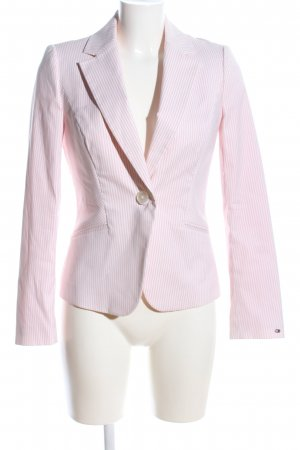 Tommy Hilfiger Jerseyblazer pink-weiß Allover-Druck Business-Look