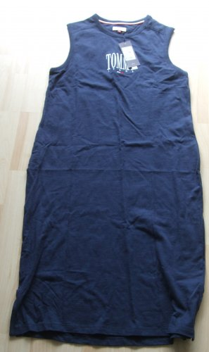 Tommy Hilfiger Vestido de tela de jersey azul oscuro