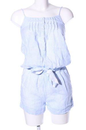 Tommy Hilfiger Jumpsuit weiß-blau Streifenmuster Casual-Look