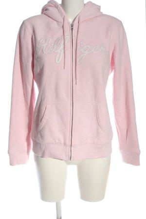 Tommy Hilfiger Kapuzenpullover pink Schriftzug gedruckt Casual-Look