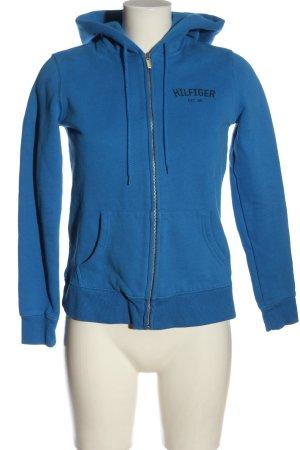 Tommy Hilfiger Sweat à capuche bleu lettrage imprimé style athlétique