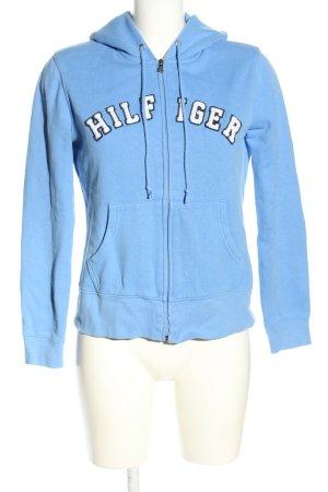 Tommy Hilfiger Sudadera con capucha azul look casual