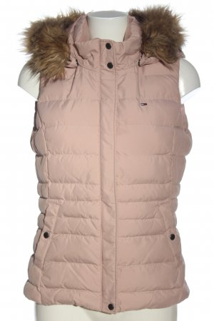 Tommy Hilfiger Kapuzenweste pink Steppmuster Casual-Look