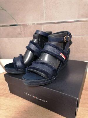 Tommy Hilfiger Keil-Sandalen blau neu 42