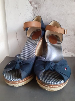 Tommy Hilfiger Zapatos de cuña blanco-azul oscuro