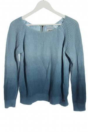 Tommy Hilfiger Kimono Pullover blau Farbverlauf Casual-Look