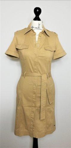Tommy Hilfiger Kleid beige Hemdkleid Gr.US6/36/S- neuwertig