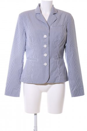 Tommy Hilfiger Korte blazer blauw-wit gestreept patroon casual uitstraling