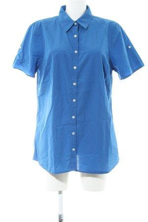 Tommy Hilfiger Kurzarm-Bluse blau Business-Look