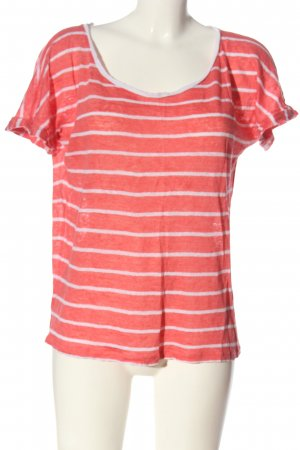 Tommy Hilfiger Kurzarm-Bluse rot-weiß Allover-Druck Casual-Look