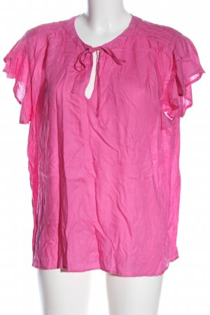 Tommy Hilfiger Kurzarm-Bluse pink Casual-Look
