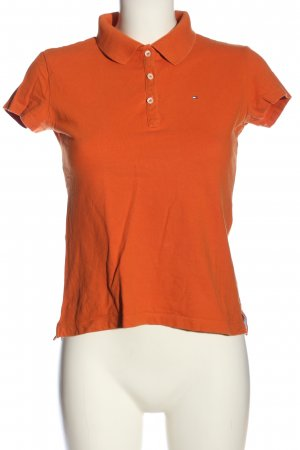 Tommy Hilfiger Kurzarm-Bluse hellorange Casual-Look