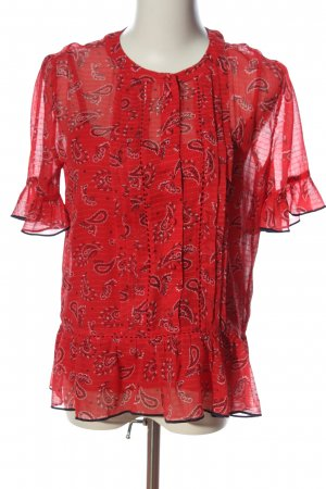 Tommy Hilfiger Kurzarm-Bluse Allover-Druck Business-Look