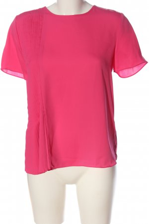 Tommy Hilfiger Kurzarm-Bluse pink Business-Look