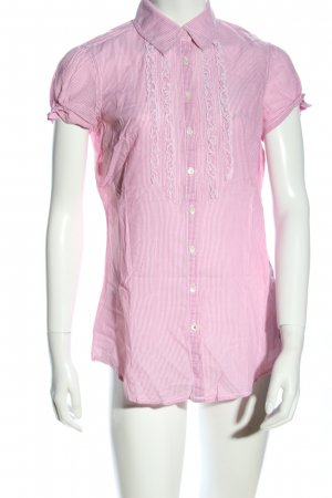 Tommy Hilfiger Kurzarm-Bluse pink Allover-Druck Business-Look