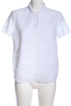 Tommy Hilfiger Kurzarm-Bluse weiß Elegant