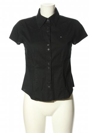 Tommy Hilfiger Kurzarm-Bluse schwarz Business-Look