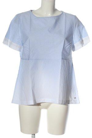 Tommy Hilfiger Kurzarm-Bluse blau-weiß Farbverlauf Casual-Look