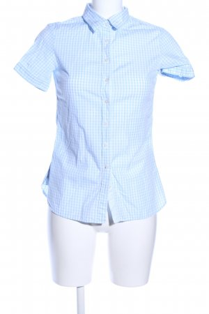Tommy Hilfiger Short Sleeved Blouse blue-white check pattern business style